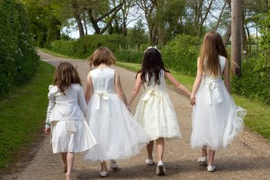 bridesmaids on the lane